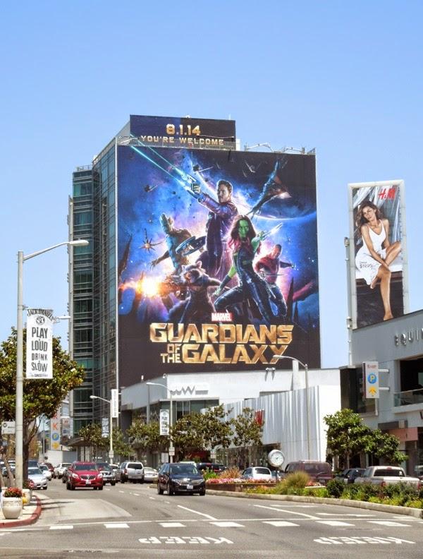 Giant Guardians of Galaxy billboard sunset strip
